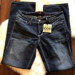 Fragile Juniors Skinny Blue Jeans Size 13